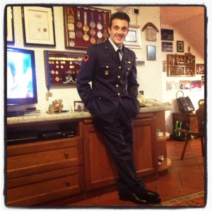 Alberto in the uniform of the Italian Air Force photo courtesy Alberto Busnari